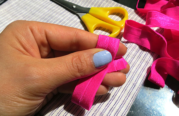 how to make snag free hair tie