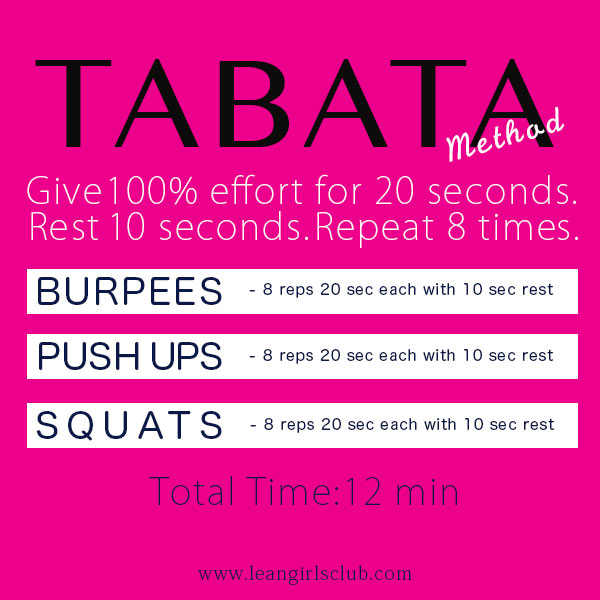 tabata method workout