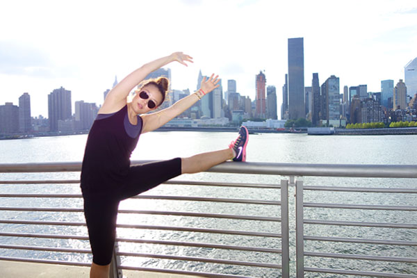 stretch NYC skyline workout