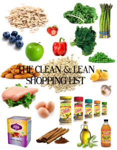 clean and lean shopping list for detoxing