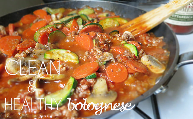 clean and healthy bolognese