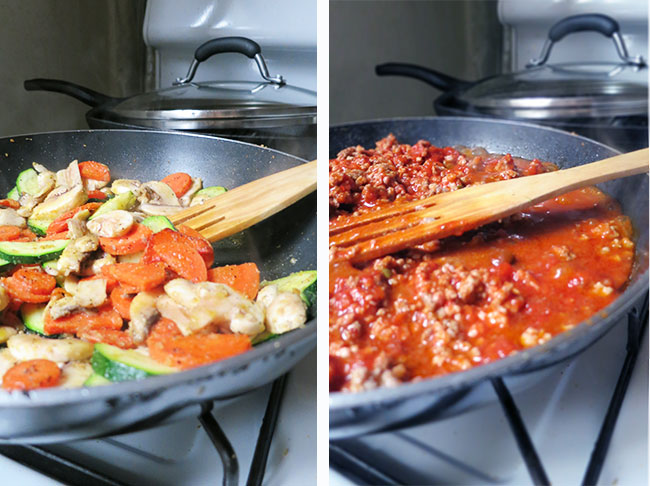 ingredients for clean and healthy bolognese