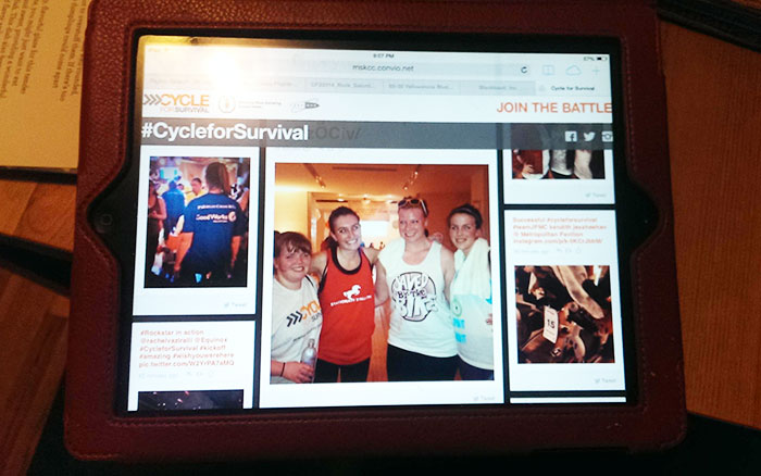Cycle for Survival live feed