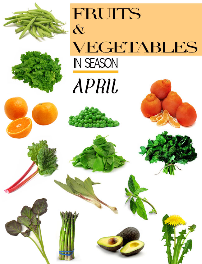 Fruits and Vegetables in Season April Spring