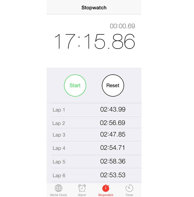 running and timing intervals with iphone