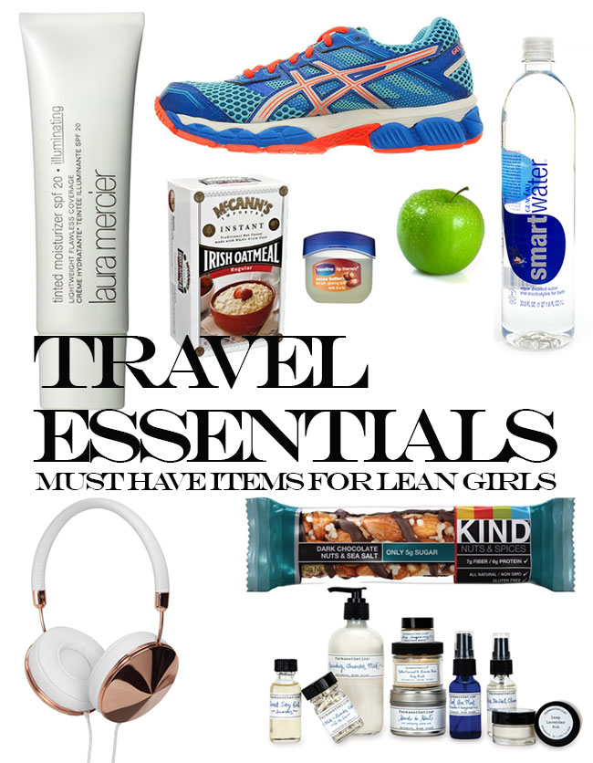 Travel Essentials for Lean and Fit Girls