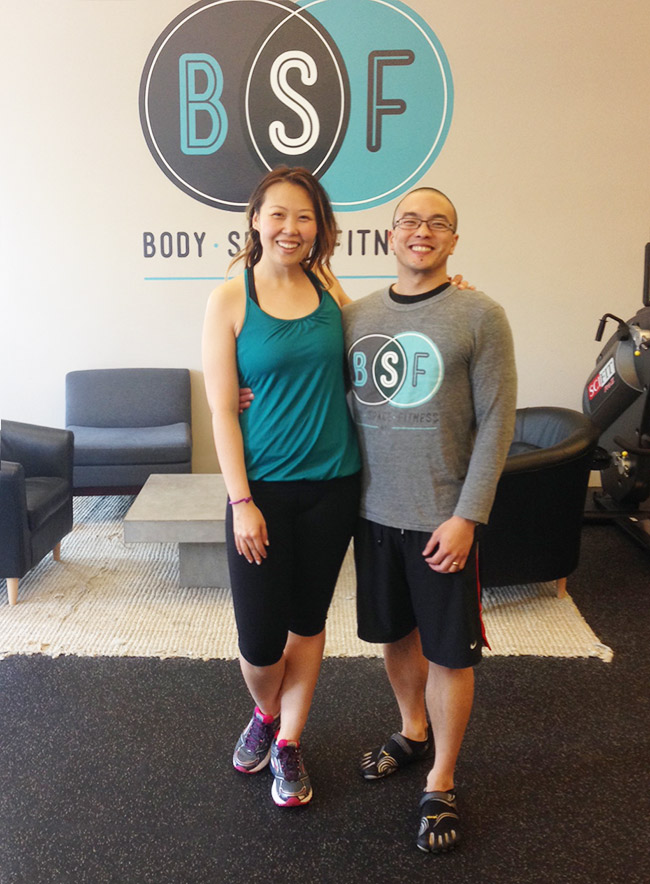 Tony at Body Space Fitness and Grace Kim from Lean Girls Club