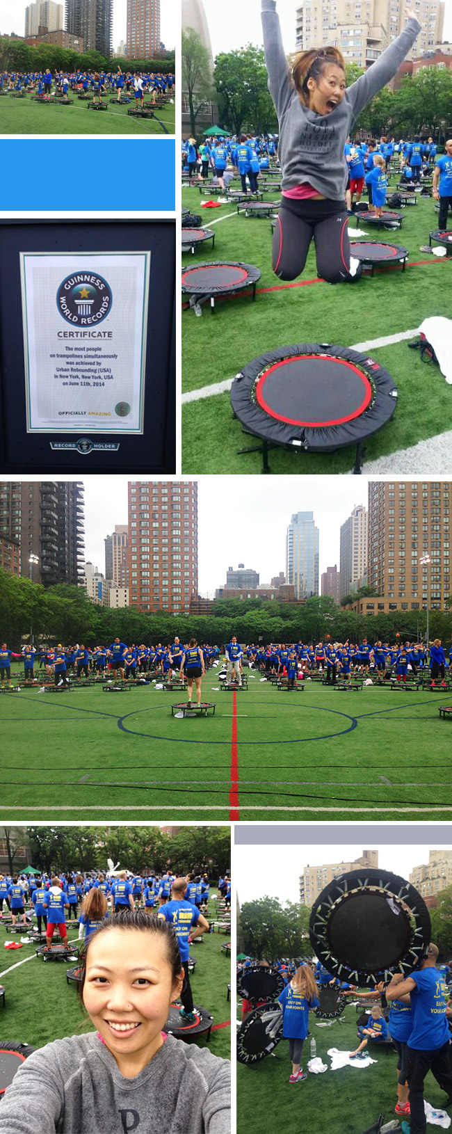 Urban Rebounding trampoline workout sets Guiness World Record