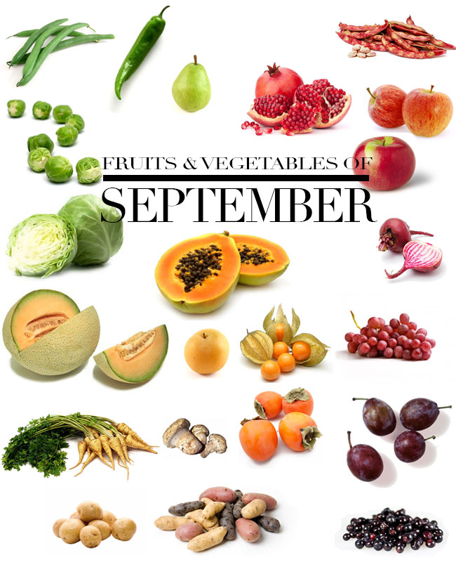 Eat Seasonal: Fruits and Vegetables of September
