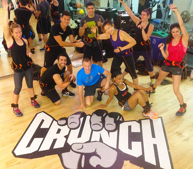 Transformer with Disq class at Crunch Gym