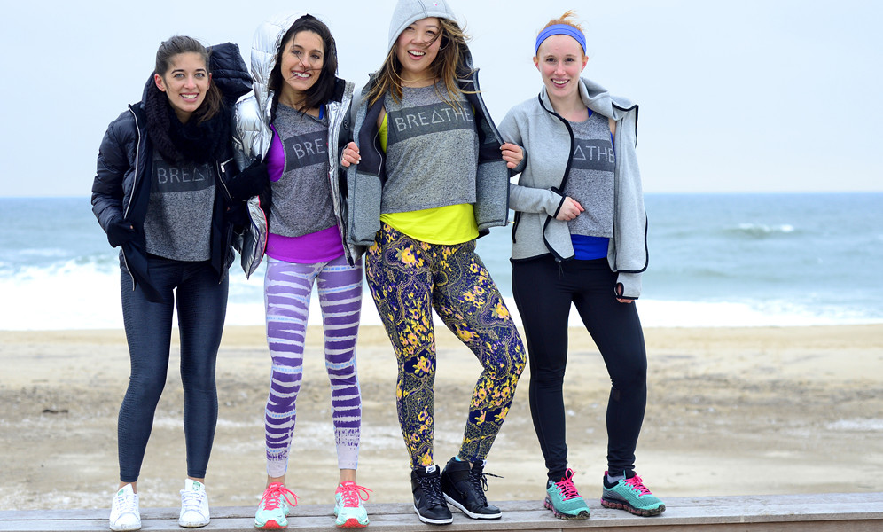 Fitness bloggers at Gurney's Montauk